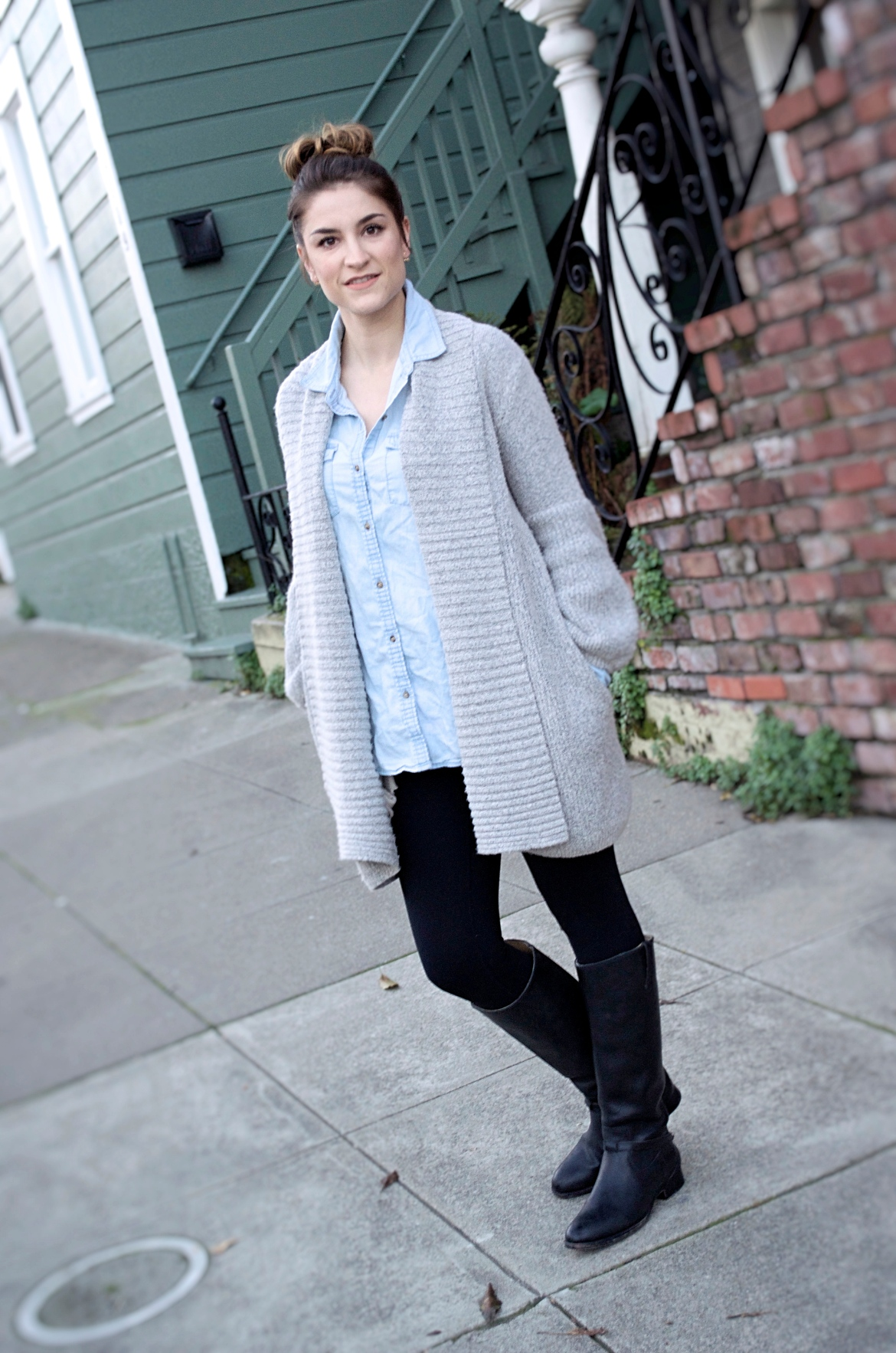 cardigan-and-chambray-top